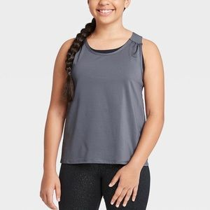 All In Motion | Gray Black Double Layer Tank Top S